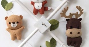 Wald Tiere / Kreaturen Baby Mobile Wald von pinkTopic on Etsy (Diy Ideas For Gi ...