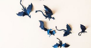 Game of Thrones Decor 3D Dragon Wandtattoo von hipandclavicle