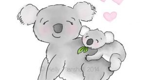 Koala Nursery Art - Koala Art - Animal Nursery - Australischer Kindergarten - Sweet Chee ...