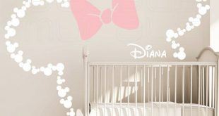 Mickey Mouse inspiriert Ohren mit Bow & personalisierte BABY NAME / Minnie Mouse Insp ...