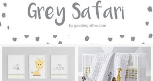 Grey Safari Nursery-Farbpalette - Goodnight Fox