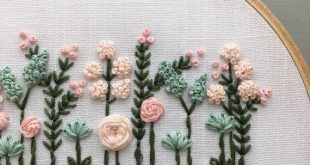 DIY Baby Room Decor, Blumenstickerei digitales Muster ... ... # Blumenstickerei ...